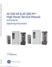 GE AF-600 FP Series Operating Instructions Manual