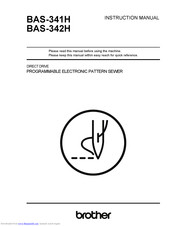Brother BAS-341H Instruction Manual