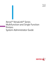 Xerox VersaLink Series System Administrator Manual