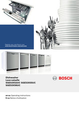 Bosch SGE53X52UC Operating Instructions Manual