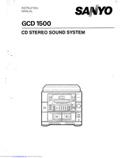 Sanyo GCD 1500 Instruction Manual