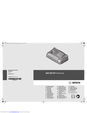 Bosch GAX 18V-30 Professional Original Instructions Manual