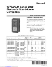 Honeywell T775M2006 Installation Instructions Manual