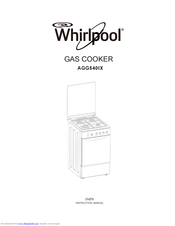 Whirlpool AGG540IX Instruction Manual