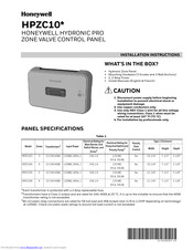 Honeywell HPZC10 Series Installation Instructions Manual