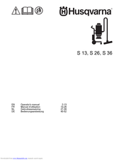 Husqvarna S 13 Operating Manual