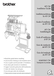 Brother KIT CW Installation Manual