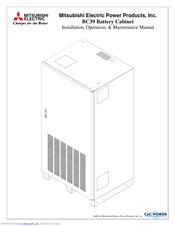 Mitsubishi Electric BC39 Installation, Operation & Maintenance Manual