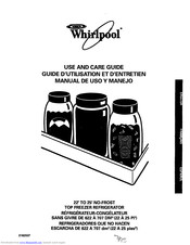 Whirlpool ET22PKXDW00 Use And Care Manual