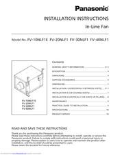 Panasonic Fv 40nlf1 Manuals