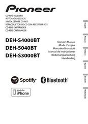 Pioneer Deh S4000bt Manuals Manualslib