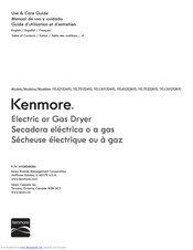Kenmore 110.65232610 Use & Care Manual