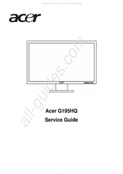 Acer G195HQ Service Manual
