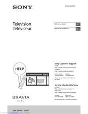 Sony BRAVIA XBR-55A9F Reference Manual