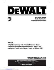 Dewalt Dw735 Manuals Manualslib