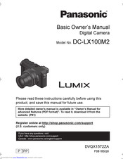 Panasonic LUMIX DC-LX100M2 Basic Owner's Manual