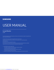 Samsung C34J791WT Series User Manual