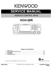 Kenwood KCH-20R Service Manual