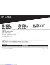 Kenwood Kdc X303 Instruction Manual Pdf Download Manualslib