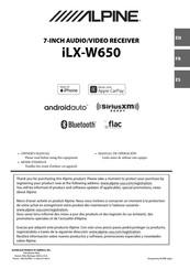 Alpine Ilx W650 Manuals Manualslib