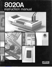 Fluke 8020A Instruction Manual
