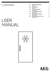 AEG AGE62526NX User Manual