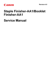 Canon Booklet Finisher-AA1 Service Manual