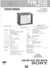 Sony PVM-2530 Service Manual