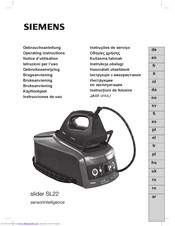 Siemens slider SL22 Operating Instructions Manual