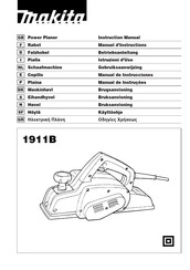 Makita 1911B Instruction Manual
