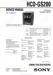Sony HCD-GS200 Service Manual