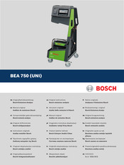 Bosch BEA 750 Original Instructions Manual