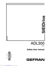 gefran SIEIDrive ADL300 Safety User Manual