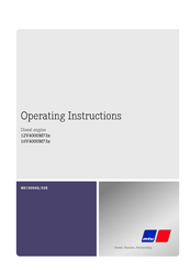 MTU 16V4000M73L Operating Instructions Manual