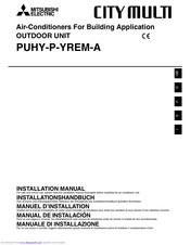 Mitsubishi Electric CITY MULTI PUHY-P-YREM-A Installation Manual