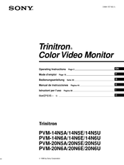 Sony Trinitron PVM-20N6U Operating Instructions Manual