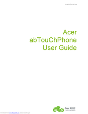Acer abTouChPhone User Manual