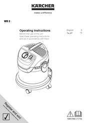 Kärcher WD 2 Operating Instructions Manual