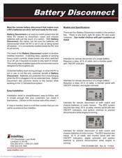 INTELLITEC BATTERY DISCONNECT BD0 INSTALLATION MANUAL Pdf Download |  ManualsLib