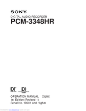 Sony PCM-3348HR Operation Manual