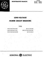 GE AK-2A-50S Maintenance Manual