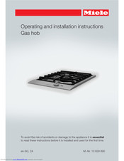 Miele ProLine CS 1013-1 Operating And Installation Instructions