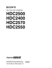 Sony HDC2400 Operation Manual