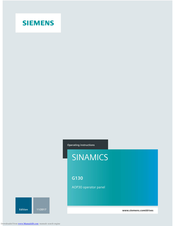 Siemens AOP30 Operating Instructions Manual