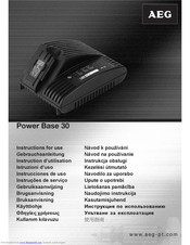 AEG Power Base 30 Instructions For Use Manual