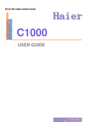 Haier C1000 User Manual