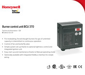 Honeywell BCU 370 Technical Information