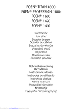 AEG FOEN PROFESSION 1800 User Manual