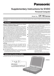 Panasonic Toughbook CF-18 Series Supplementary Instructions Manual