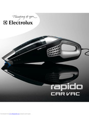 Electrolux RAPIDO CAR VAC ZB412C User Manual